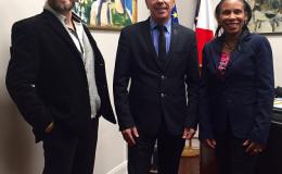 Encuentro con alcalde de ANGLET para el proyecto del Centro deayuda